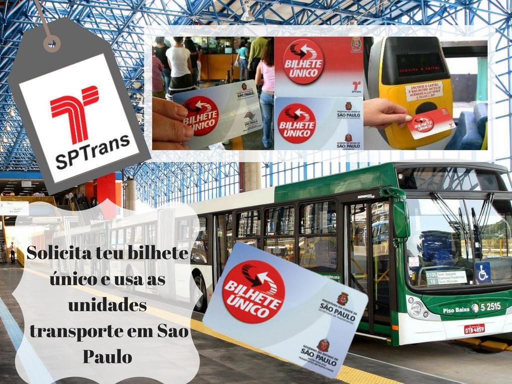 Recarrega teu Bilhete Único e usa as unidades de transporte em Sao Paulo