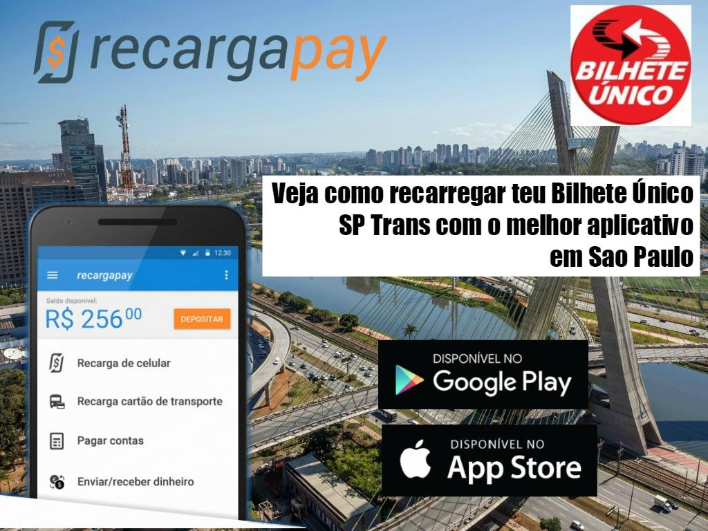 App para recarregar o Bilhete Único SP Trans na cidade São Paulo