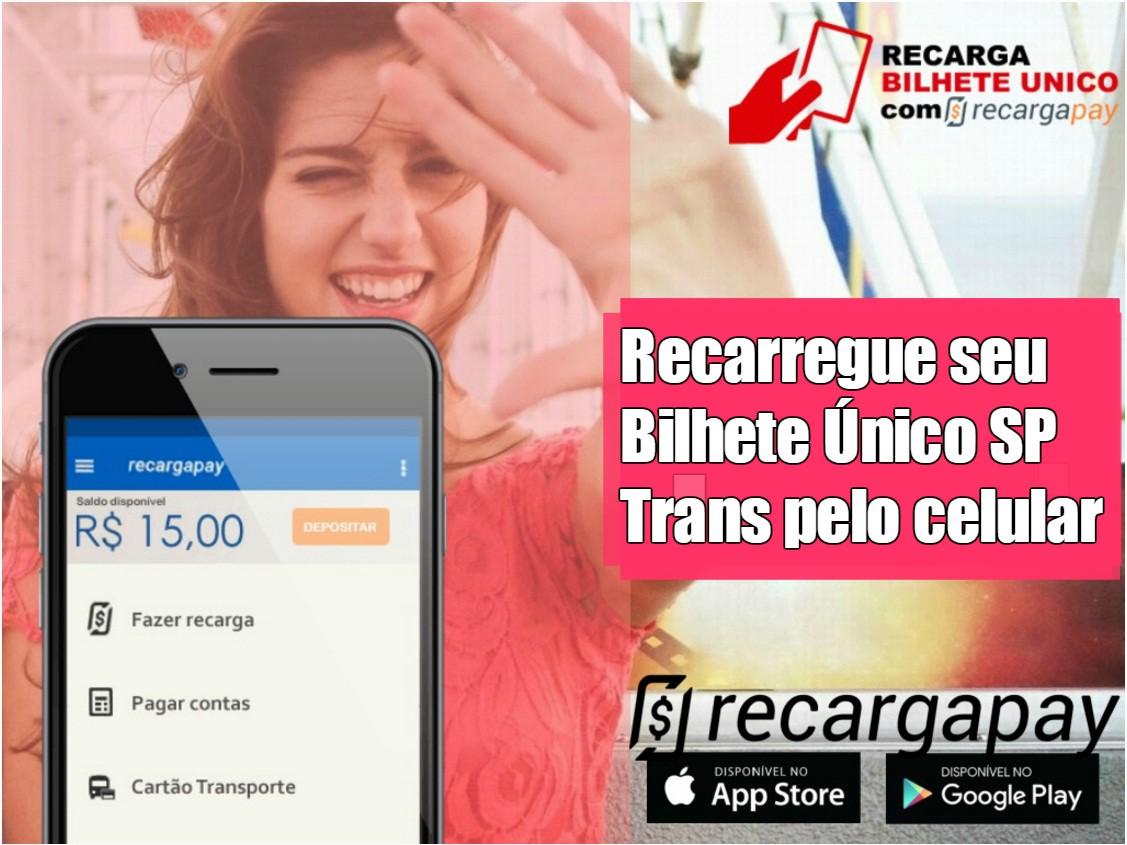 Recarga online de Bilhete Único SP Trans