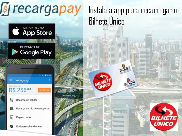 Instala a app de recarga de bilhete unico sp trans em São Paulo