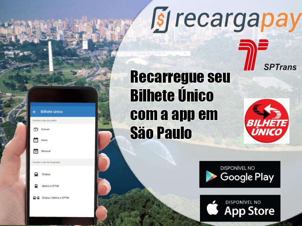 Recarga de Bilhete Único pelo celular em São Paulo