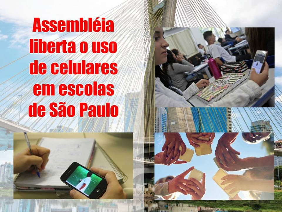 Assembléia liberta o uso de celulares em escolas