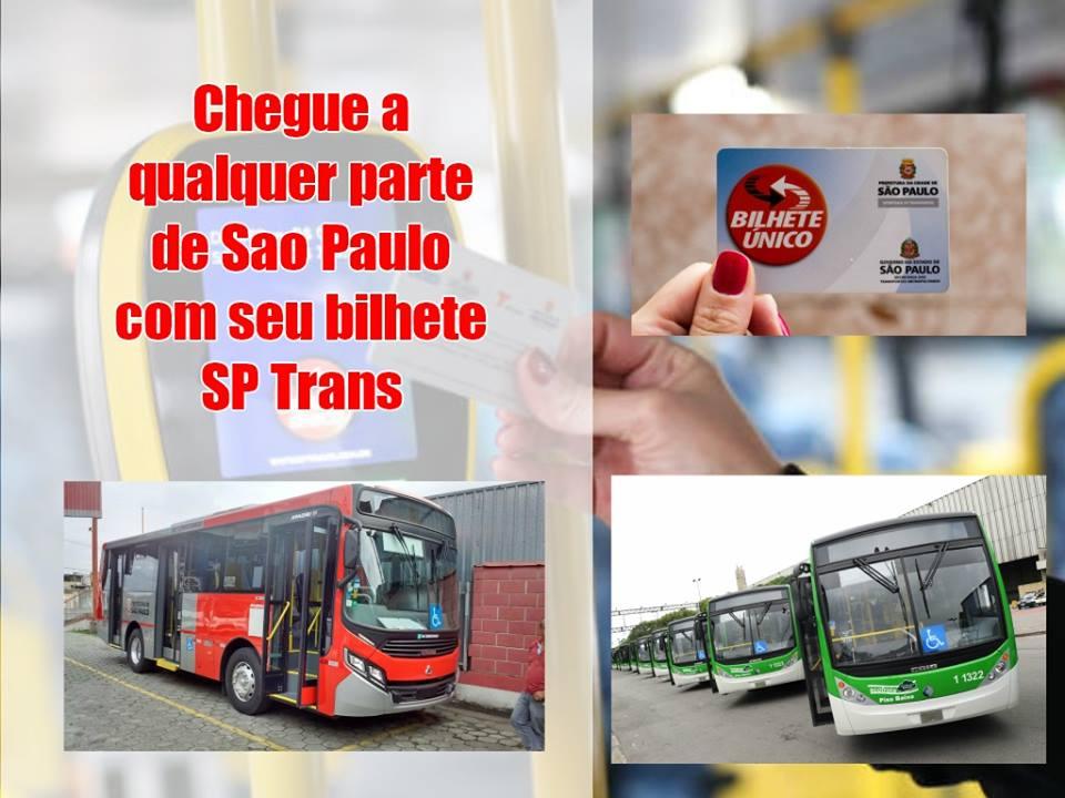 Chegue a qualquer parte de Sao Paulo com seu bilhete SP