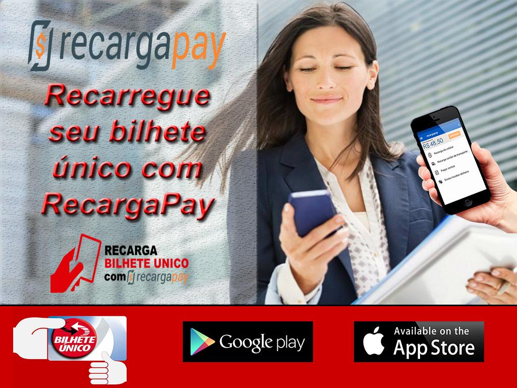 Recarregue seu bilhete único com RecargaPay