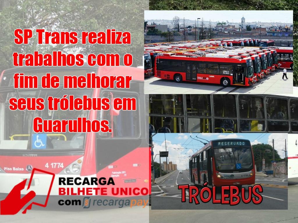 SP Trans realiza trabalhos com o fim de melhorar seus trólebus em Guarulhos