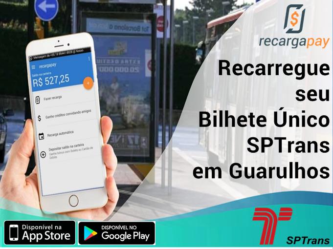 Recarregue seu Bilhete Único SPTrans em Guarulhos