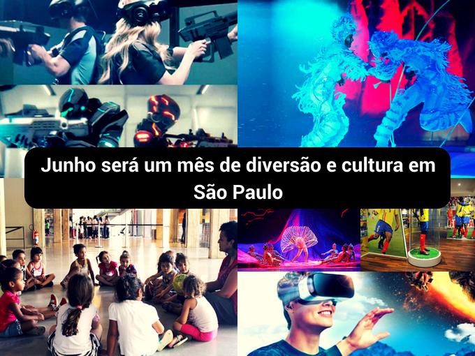 Junho está cheio de atividades em São Paulo