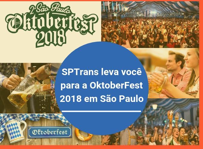 A SPTrans irá levá-lo para a OktoberFest 2018
