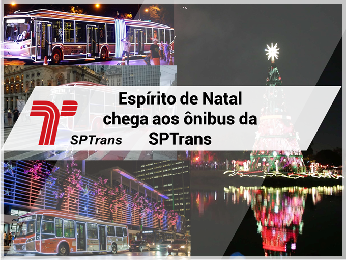 Espírito de Natal chega aos ônibus da SPTrans