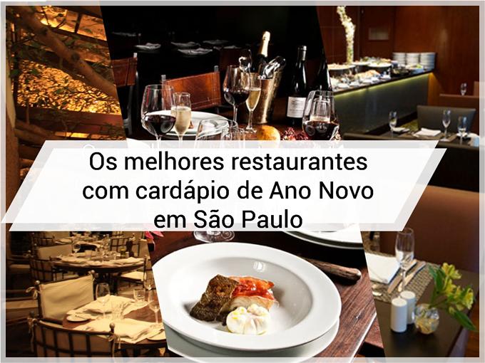 Os melhores restaurantes com cardápio de Ano Novo em São Paulo