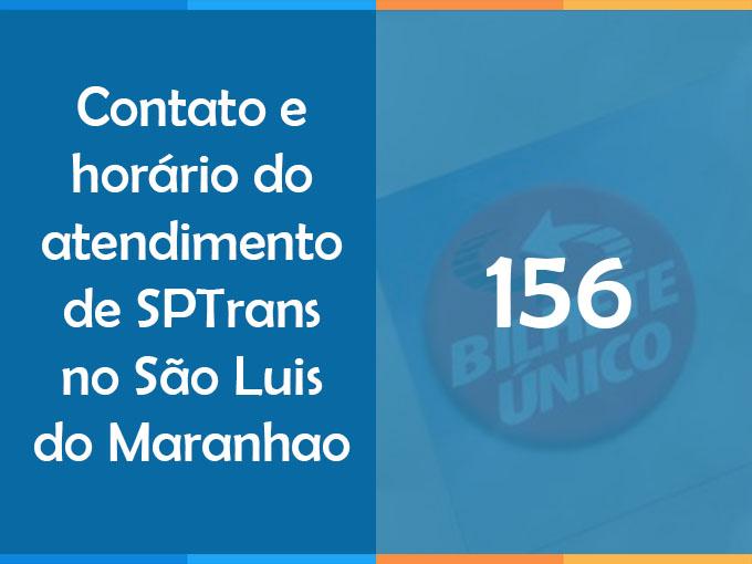 Contato e horário do atendimento de SPTrans no São Luis do Maranhao
