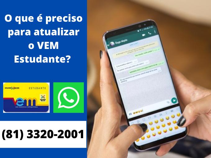 Atualize VEM pelo WhatsApp