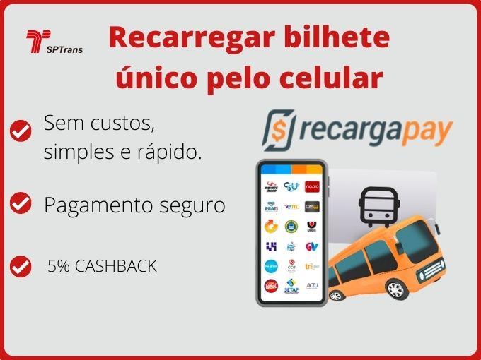 recarregar bilhete unico pelo celular